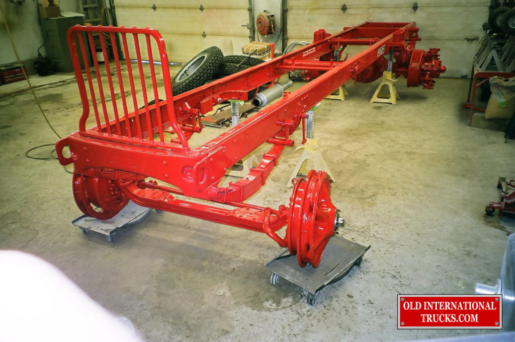 Front axle ready to mate up with springs and frame