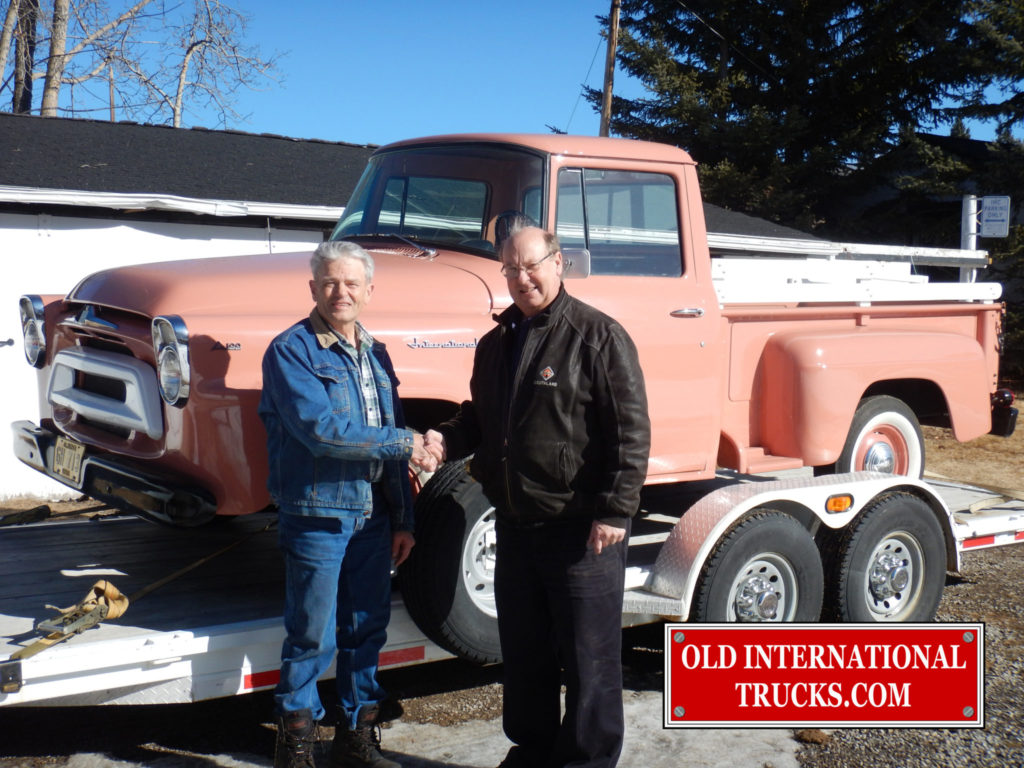 GEORGE KIRKHAM BUYING THE 1958 A100 FROM THE SON OF THE ORIGINAL OWNER