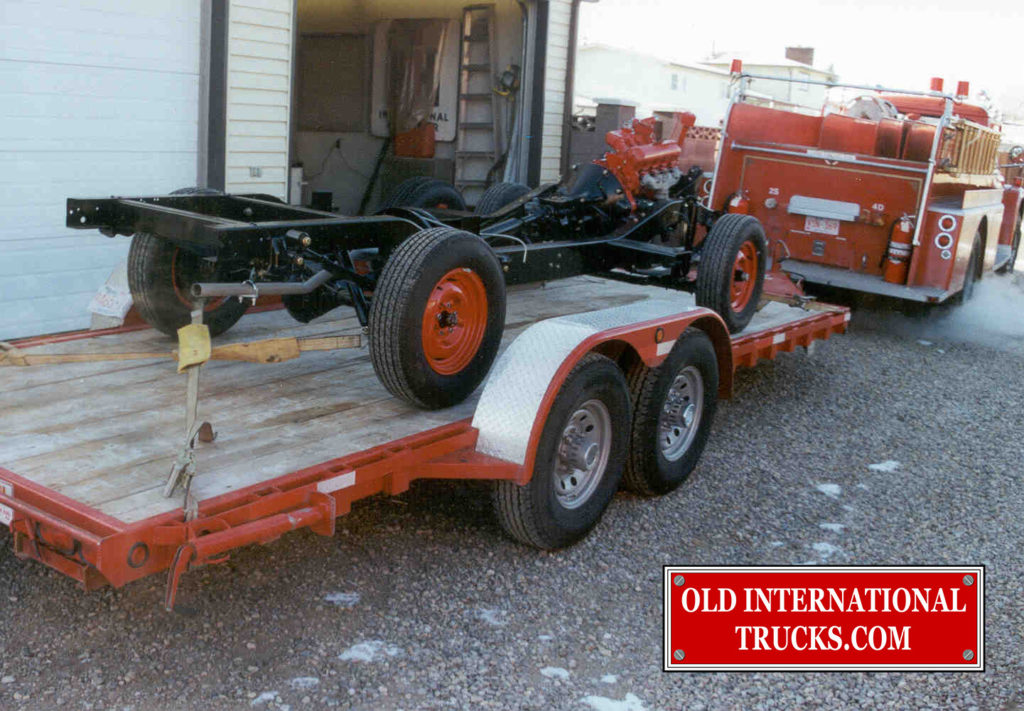 CHASSIS LOADED UP AND STORED WHILE THE BODY WORK IS BEING DONE