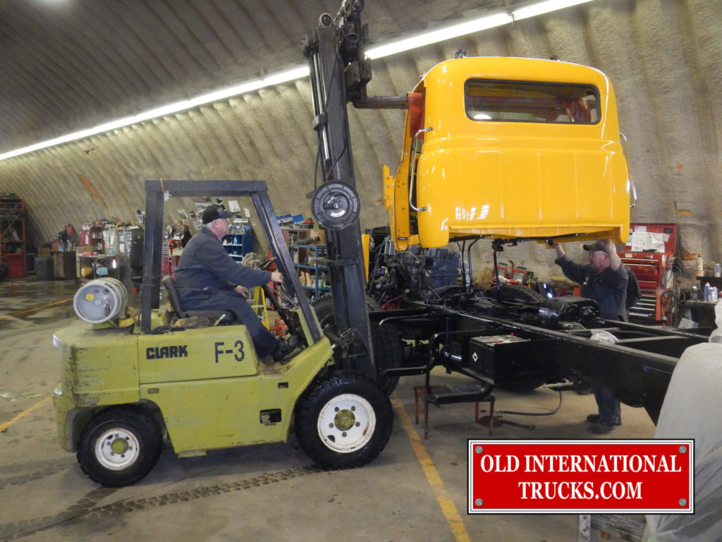 RDF230-H CAB BEING INSTALLED ON CHASSIS